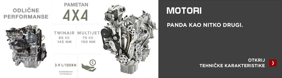 Fiat Panda 4x4 motori