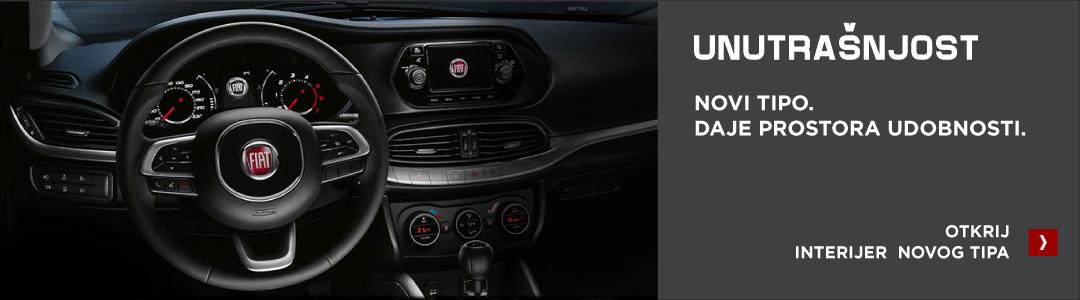 Fiat Tipo unutrašnjost